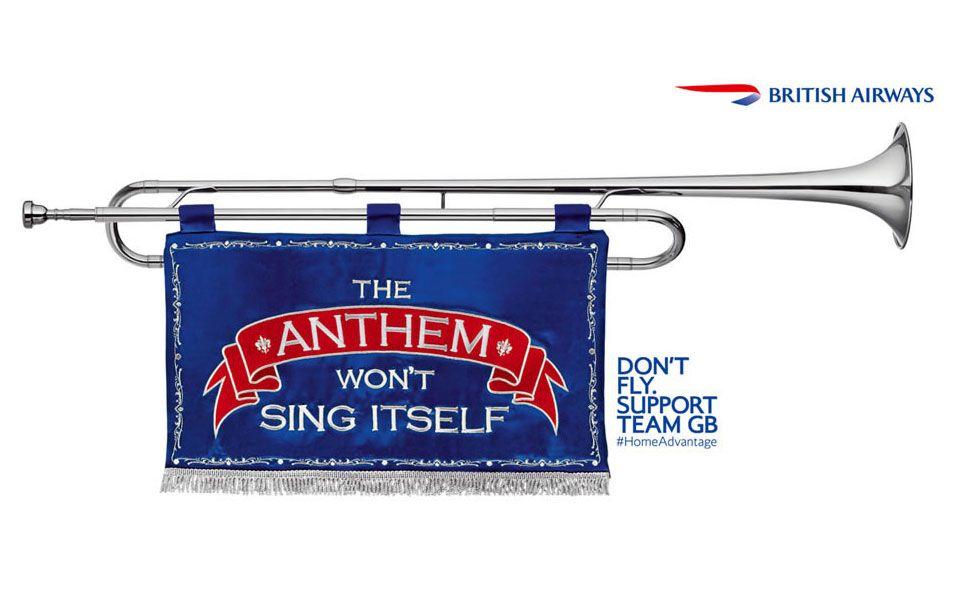British Airways trumpet
