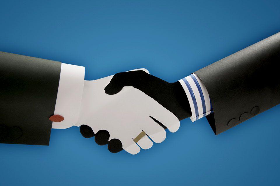 Paper handshake